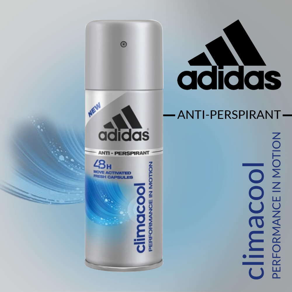 best service cb798 d4749 Adidas Climacool Performance in Motion 48h Anti Perspirant Spray for Men  -CMBS060 10